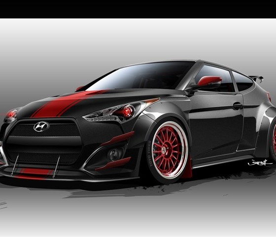 Wicked Cool Btr Edition Hyundai Veloster To Crash The Sema