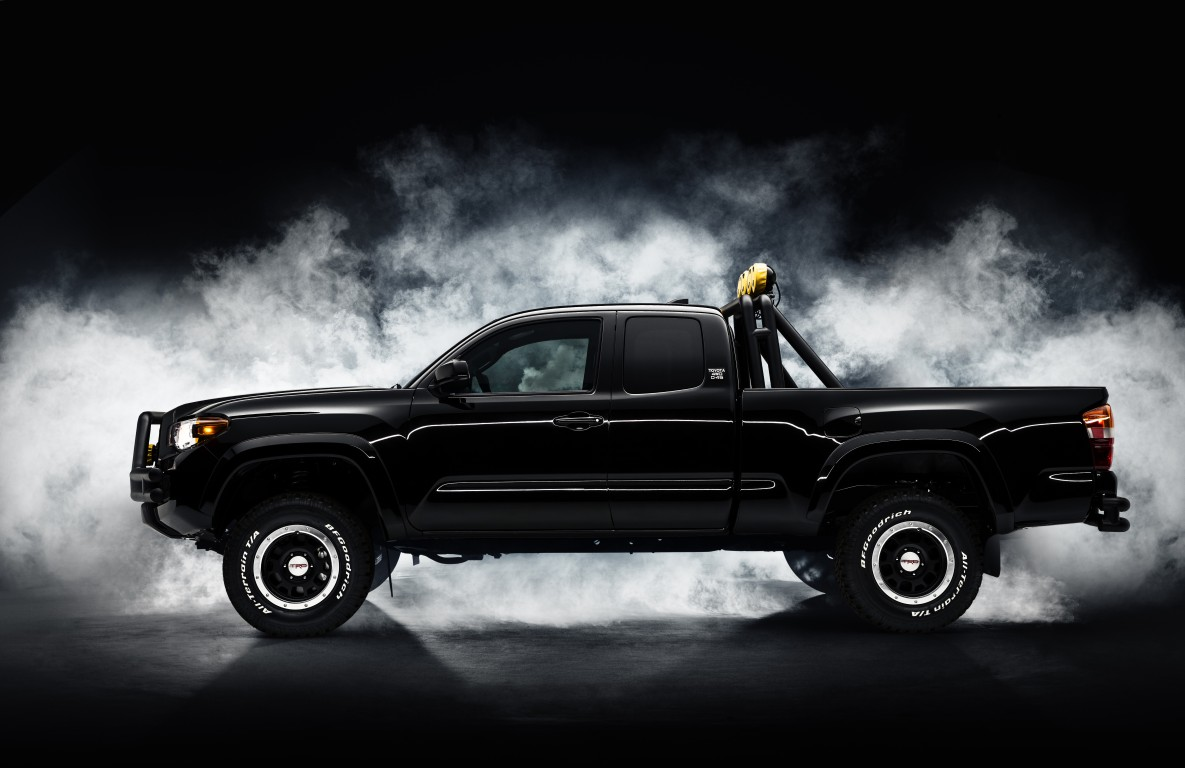 custom toyota tacoma is the truck of marty mcfly s dreams the news wheel. Black Bedroom Furniture Sets. Home Design Ideas