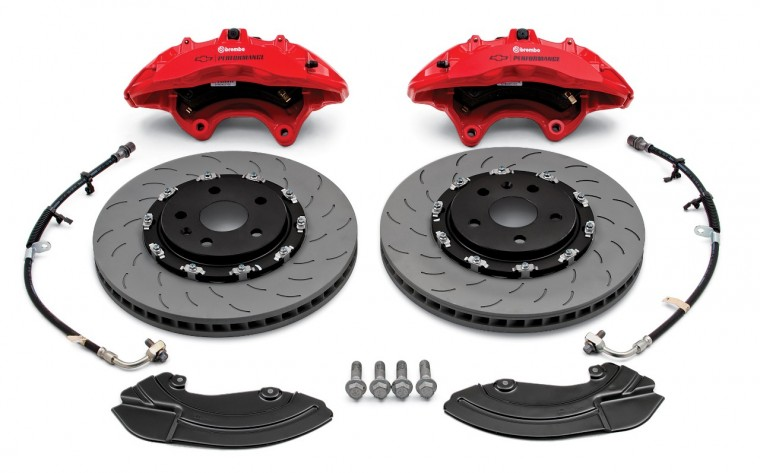 Brembo performance front brake package (six-piston calipers)