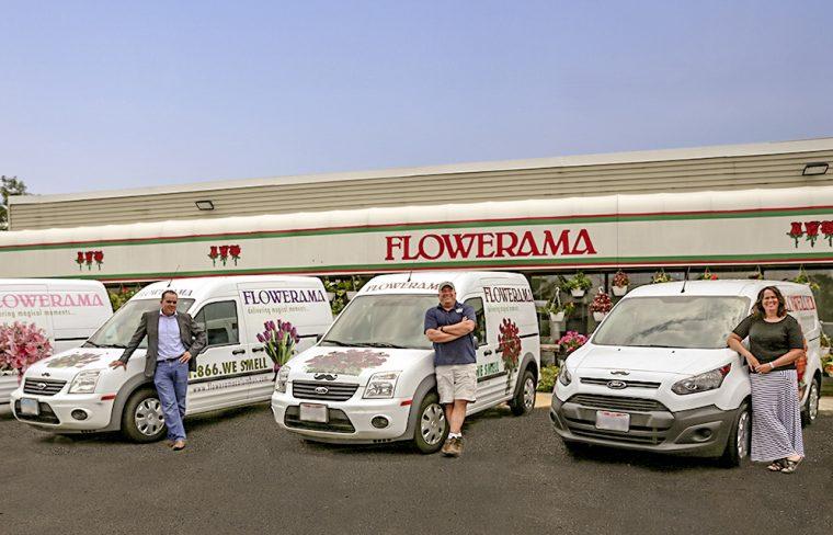 Flowerama and Ford Transit vans