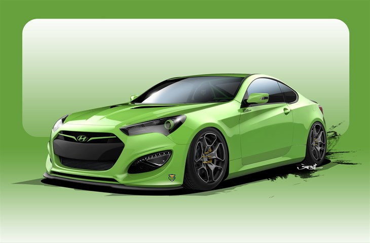 Green Hyundai Genesis Coupe TJIN Edition Underground Racer