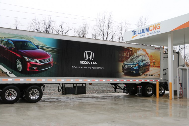 Honda truck at new CNG Filling station in Troy, Ohio