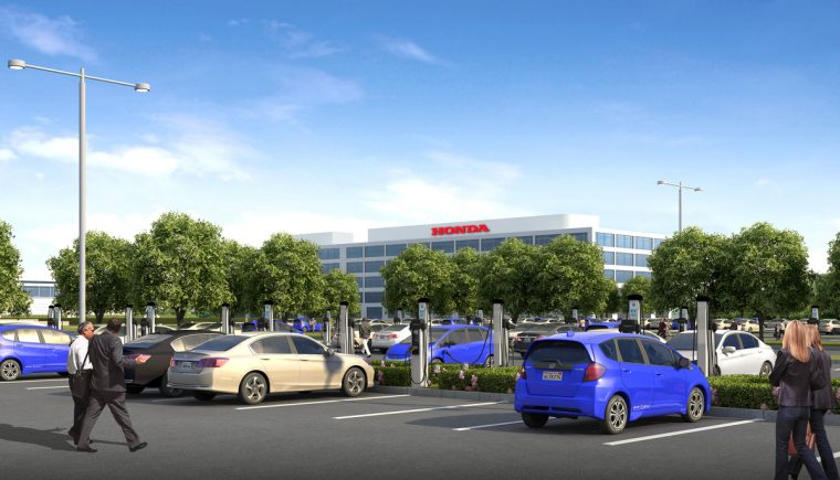 Honda Installing 120 EV Chargers At Torrance California HQ