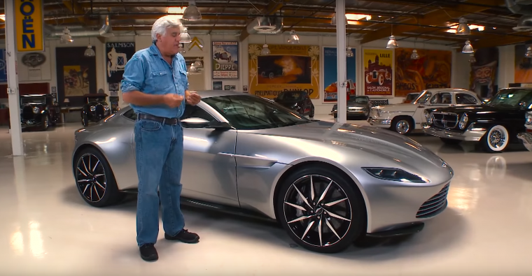 Jay Leno drives James Bond's Aston Martin DB10 from SPECTRE