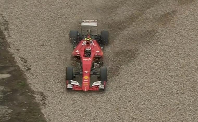 Kimi off-track