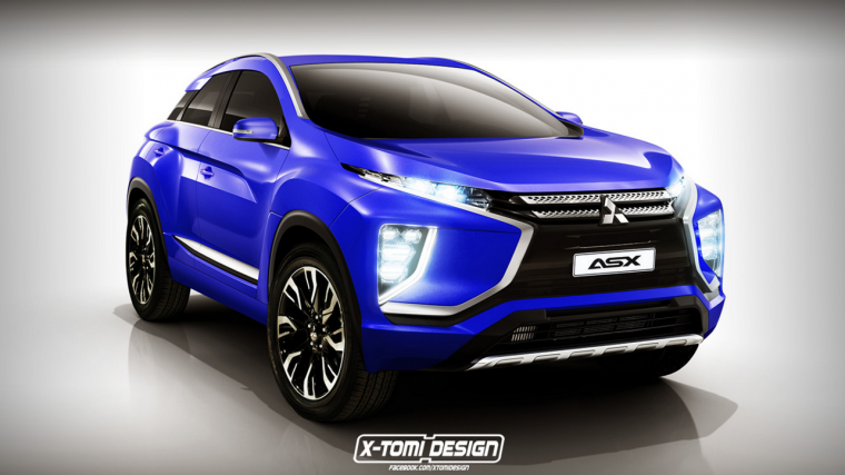 Mitsubishi Asx Rendering Adds Touch Of Ex Concept Design The News