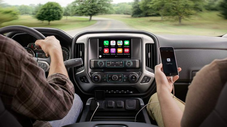 Apple CarPlay is available for the 2016 Chevy Silverado