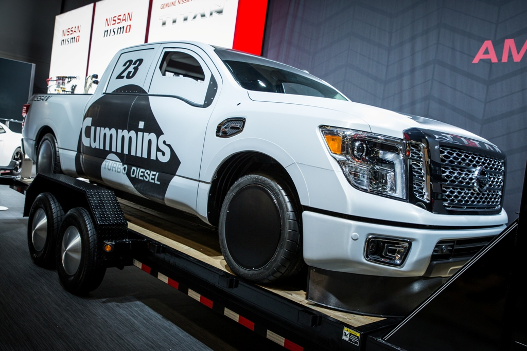 nissan cummins to attempt land speed record in 2016 titan xd triple nickel the news wheel. Black Bedroom Furniture Sets. Home Design Ideas
