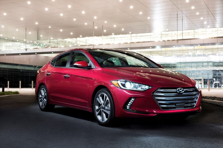 2017 Hyundai Elantra Sedan at the 2015 Los Angeles Auto Show