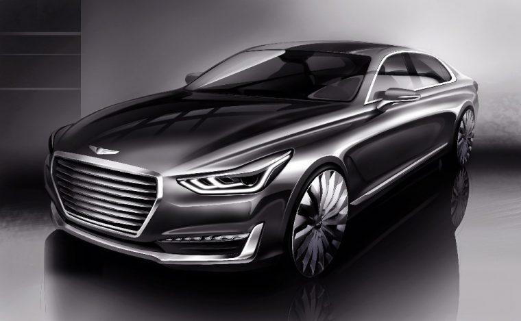 Athletic Elegance Genesis Motors' New Design Language Unveiled G90 rendering front