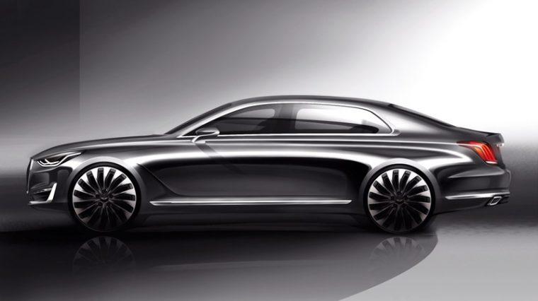 Athletic Elegance Genesis Motors' New Design Language Unveiled G90 rendering side