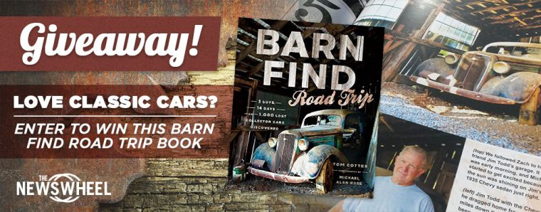 Barn Find Road Trip book giveaway banner