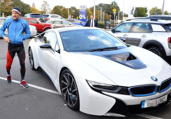 UFC Champion Conor McGregor Adds BMW i8 To His Collection ...