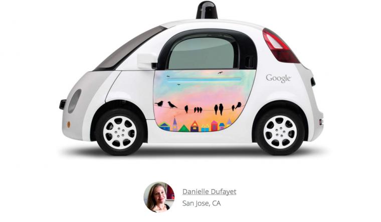 Google Doodle on Google Car Birds