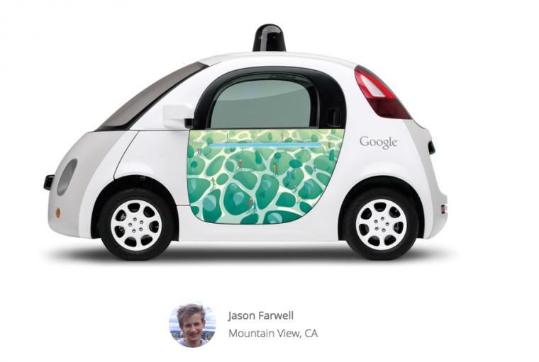 Google Doodle on Google Car Parks