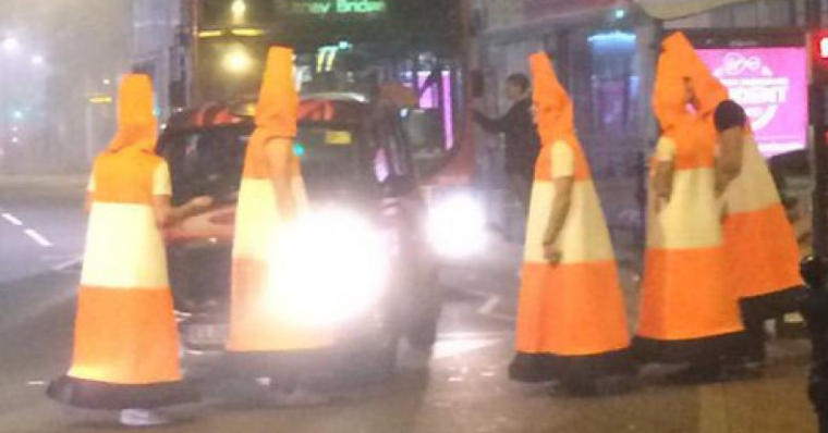 Human Traffic Cones