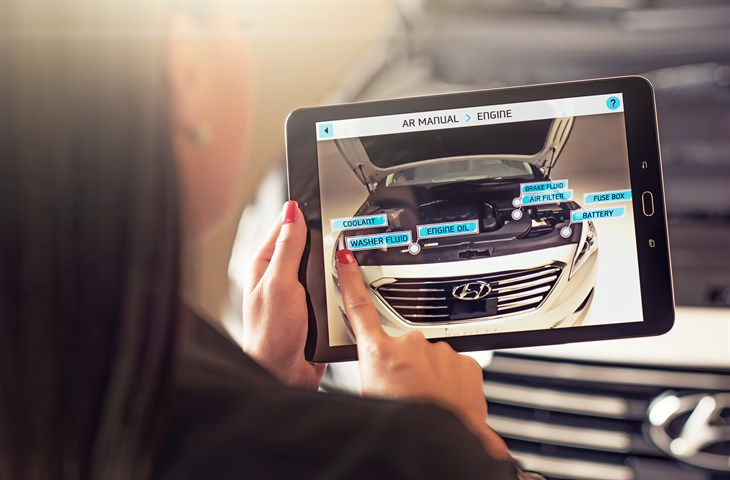 Hyundai Virtual Guide App 3D video owner's manual touch