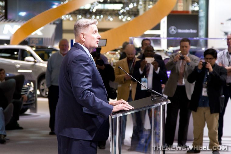 Hyundai press conference at the 2015 Chicago Auto Show