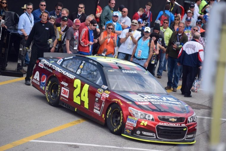 Jeff Gordon won his first race of the season this past Sunday at Martisville