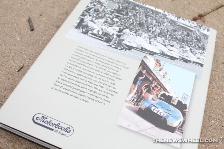 Motorbooks Ford GT book review by Lerner back cover