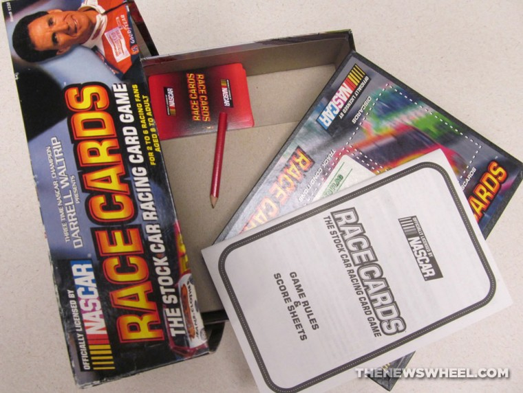 Official NASCAR Darrell Waltrip Presents Race Cards Stock Car Racing Card Game review contents