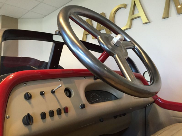 Pedal Car Replica Steering Wheel