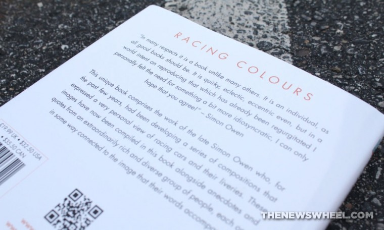 Racing Colours Simon Owen book review motor car liveries back cover