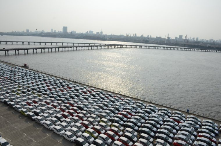 3,000 Chevrolet Beats Parked at Mumbai Port Trust of Maharashtra for Shipment to Mexico