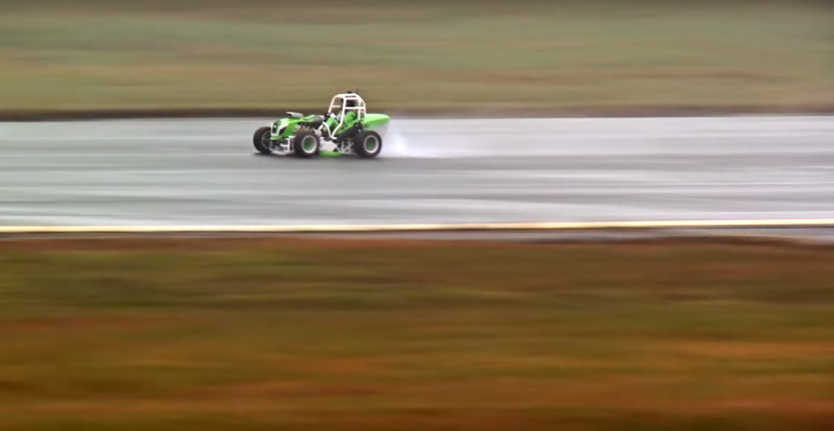 Viking Lawnmower with Corvette Engine Hits 133 MPH