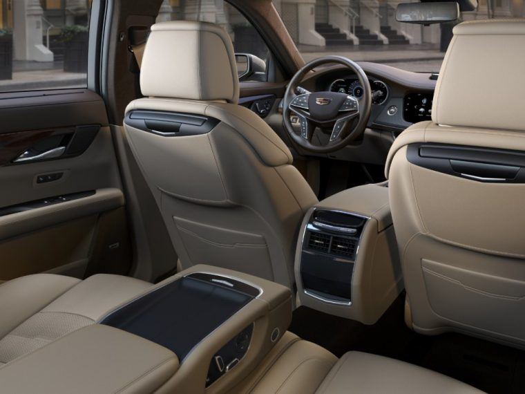 , 14-way front bucket seats for driver and front passenger are featured inside the 2016 Cadillac CT6