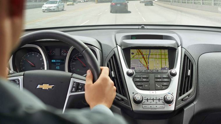 The 2016 Chevy Equinox comes standard with a 7-inch diagonal color touchscreen display
