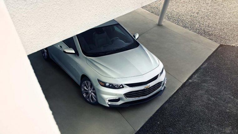 The 2016 Chevy Malibu is available with a 250 hp four-cylinder engine