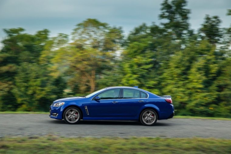 The 2016 Chevrolet SS comes with 19-inch aluminum wheels