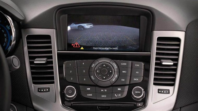 The 2016 Chevrolet Cruze comes with a number of advacned safety features, such as an available rearview camera