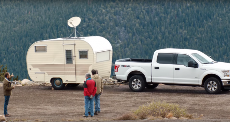 2016 Chevy Silverado ad mocking Ford F-150