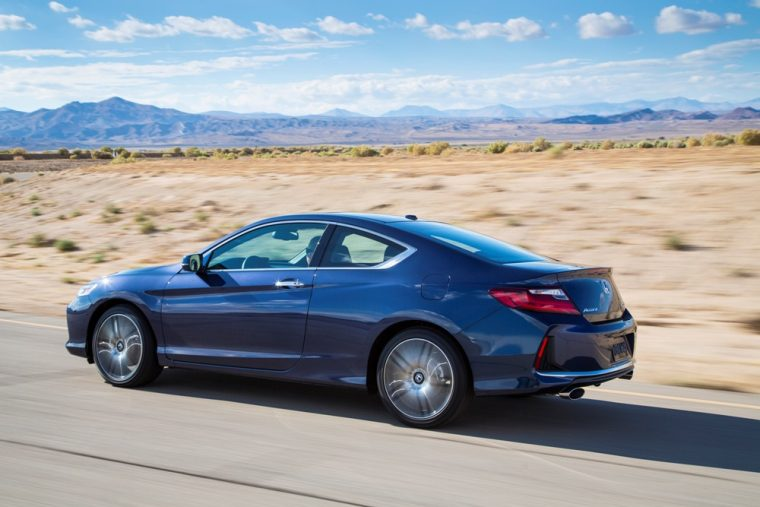 The standard four-cylinder engine inside the 2016 Honda Accord coupe is good for 185 horsepower and 181 lb-ft of torque