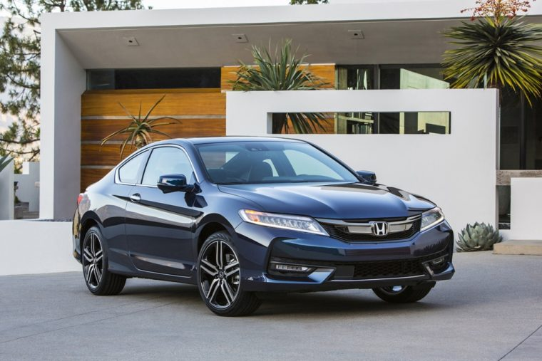 The 2016 Honda Accord coupe is available with either a manual or automatic transmission