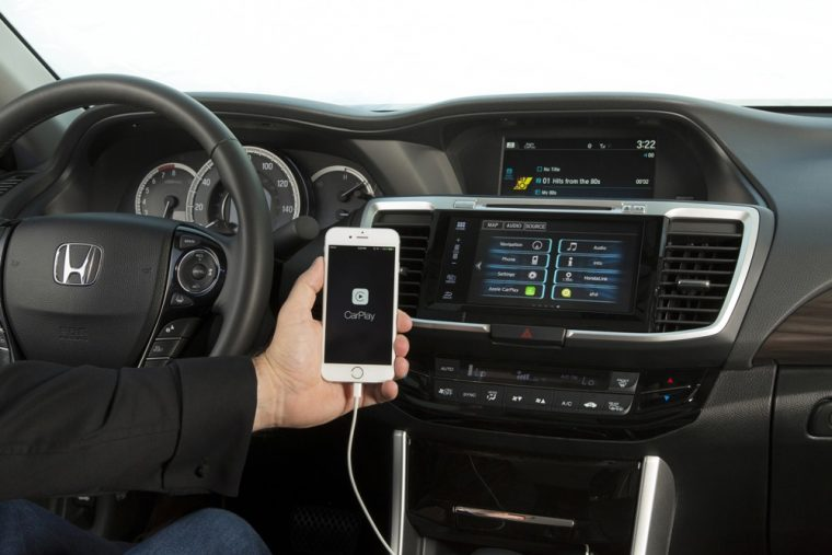 The 2016 Honda Accord coupe offers apple CarPlay compatibility