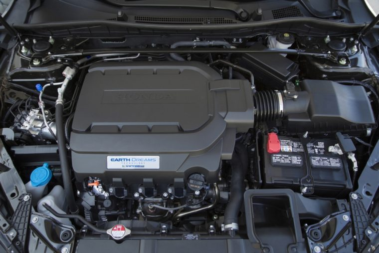 The 2016 Honda Accord comes standard with a 185 hp four-cylinder engine
