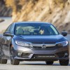 The 2016 Honda Civic comes standard with a 158 horsepower four-cylinder engine