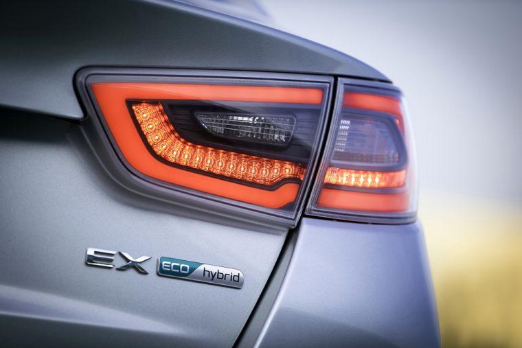 2016 Kia Optima Hybrid Back Badging