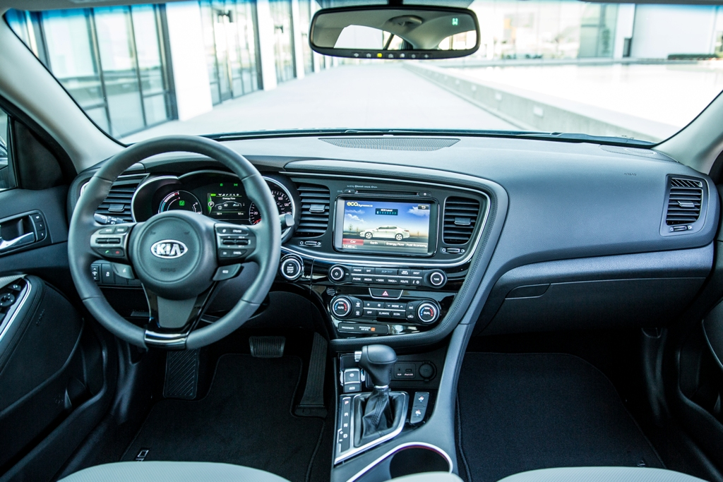 Kia Hybrid Car >> 2016 Kia Optima Hybrid Dashboard | The News Wheel
