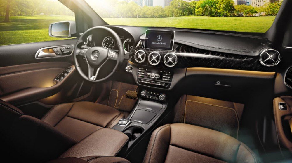 2016 mercedes benz b class electric drive interior the news wheel. Black Bedroom Furniture Sets. Home Design Ideas