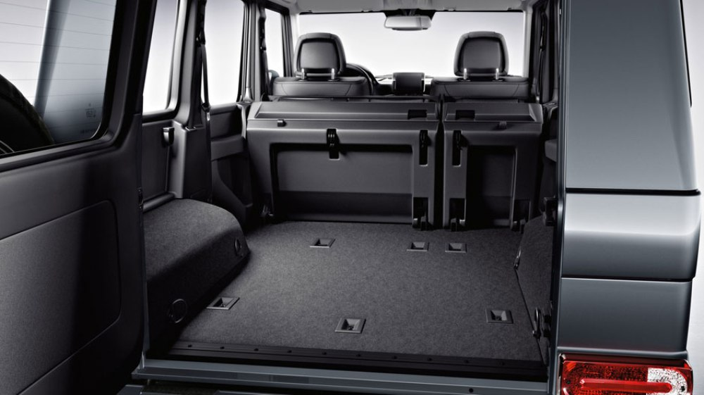 2016 mercedes benz g class cargo space the news wheel for Mercedes benz g class accessories