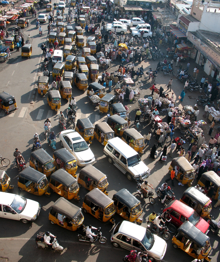 can traffic problem be in india