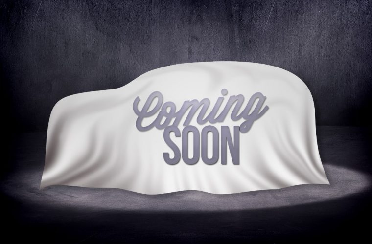 Coming soon placeholder under wraps - SUV crossover
