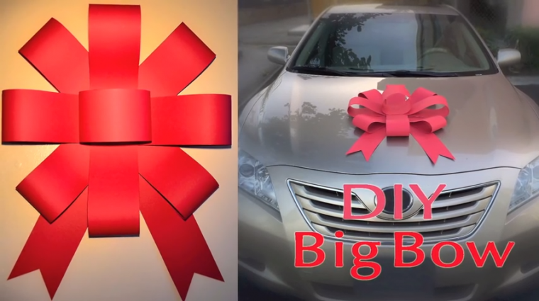 DIY Big Car Bow