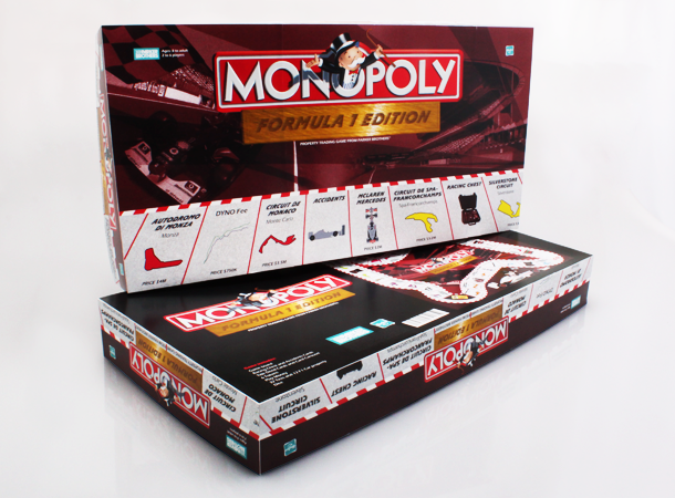 Formula 1 Custom Edition Monopoly board game