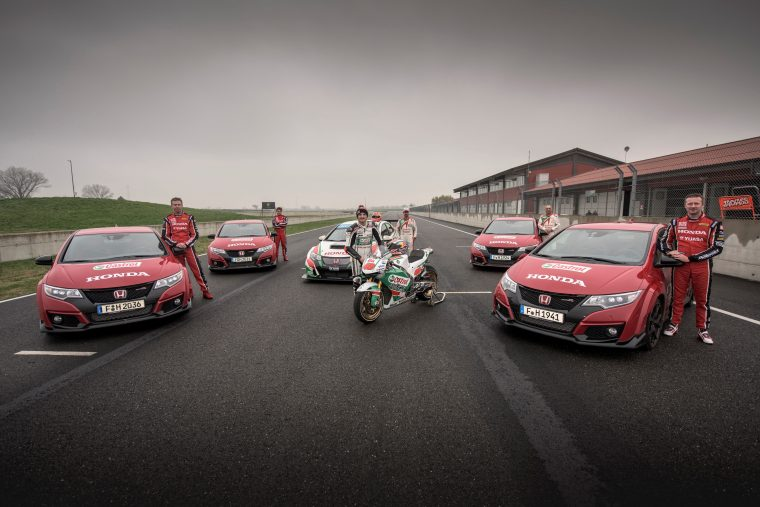 Honda Civic Type R races Touring car and MotoGP