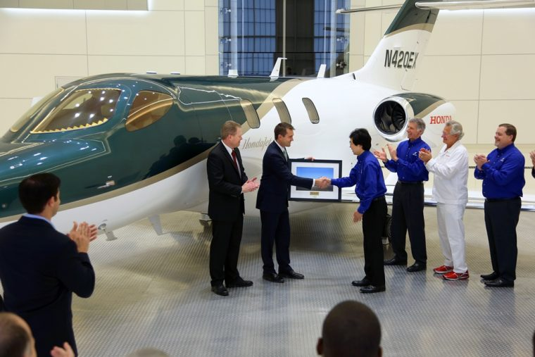 Honda Aircraft Company delivered the first HondaJet on Dec. 23, 2015.